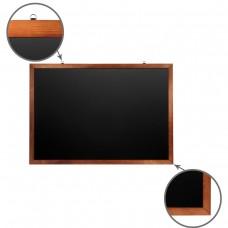 Доска для мела магнитная Brauberg, черная, деревянная рамка, 100*150 см