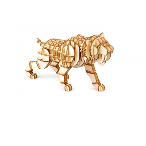 3D деревянный пазл Robotime Дикие животные - Саблезубый тигр