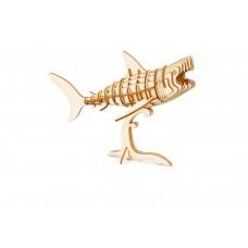 3D деревянный пазл Robotime Морские животные - Акула