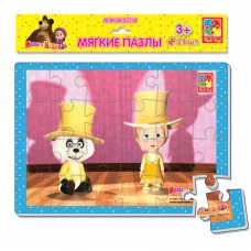 Мягкие пазлы картинки Vladi Toys - Маша и медведь. Маша и панда