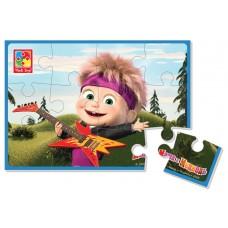 Мягкие пазлы картинки Vladi Toys - Маша и медведь. Маша с гитарой