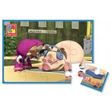 Мягкие пазлы картинки Vladi Toys - Маша и медведь. Маша и поросенок