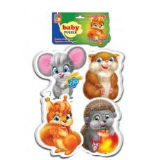 Мягкие пазлы Vladi Toys - Baby puzzle Пушистики