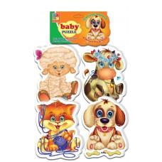 Мягкие пазлы Vladi Toys - Baby puzzle Домашние любимцы