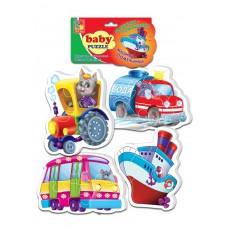Мягкие пазлы Vladi Toys - Baby puzzle Транспорт