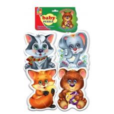 Мягкие пазлы Vladi Toys - Baby puzzle Лесные жители