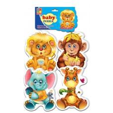 Мягкие пазлы Vladi Toys - Baby puzzle Зоопарк