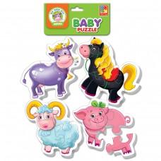Мягкие пазлы Vladi Toys - Baby puzzle Ферма