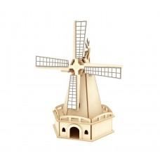3D деревянный пазл Robotime Солнечные механизмы Ветряная мельница