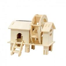 3D деревянный пазл Robotime Солнечные механизмы Водяная мельница
